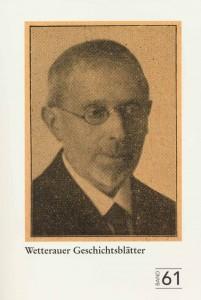 Titelblatt Band 61 WGBL. Heinrich Ehrmann