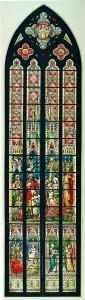 """Entwurf für das im Jahr 1900 ausgeführte """"Weihnachtsfenster"""" (Zentralarchiv der EKHN, Darmstadt)"""